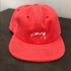 Light red Stüssy terry cloth adjustable hat